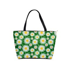 Flower Sunflower Yellow Green Leaf White Shoulder Handbags by Mariart