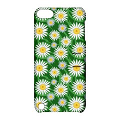 Flower Sunflower Yellow Green Leaf White Apple Ipod Touch 5 Hardshell Case With Stand by Mariart