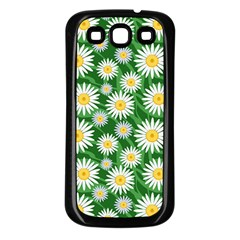 Flower Sunflower Yellow Green Leaf White Samsung Galaxy S3 Back Case (black) by Mariart