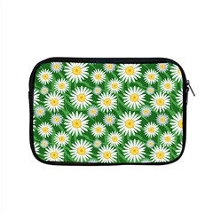 Flower Sunflower Yellow Green Leaf White Apple Macbook Pro 15  Zipper Case by Mariart