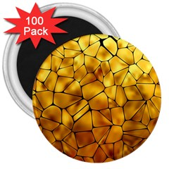 Gold 3  Magnets (100 Pack) by Mariart