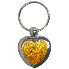 Gold Key Chains (heart)