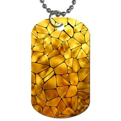 Gold Dog Tag (two Sides) by Mariart