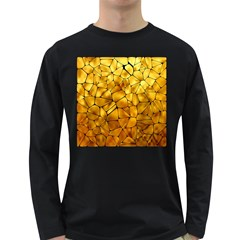 Gold Long Sleeve Dark T-shirts by Mariart