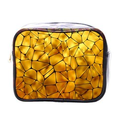 Gold Mini Toiletries Bags by Mariart