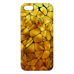 Gold Iphone 5s/ Se Premium Hardshell Case by Mariart