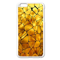 Gold Apple Iphone 6 Plus/6s Plus Enamel White Case by Mariart