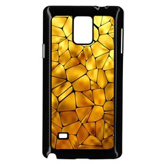 Gold Samsung Galaxy Note 4 Case (black)
