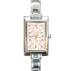Flower Floral Red Star Sunflower Rectangle Italian Charm Watch by Mariart