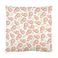 Flower Floral Red Star Sunflower Standard Cushion Case (two Sides) by Mariart