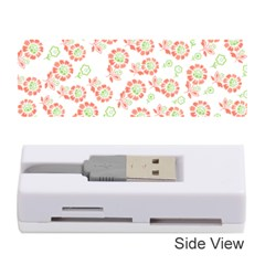 Flower Floral Red Star Sunflower Memory Card Reader (stick)  by Mariart