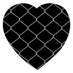 Iron Wire White Black Jigsaw Puzzle (heart) by Mariart
