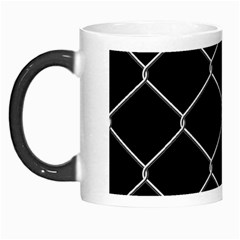 Iron Wire White Black Morph Mugs by Mariart
