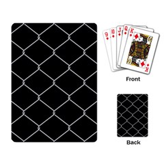 Iron Wire White Black Playing Card by Mariart