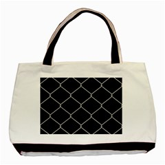 Iron Wire White Black Basic Tote Bag by Mariart