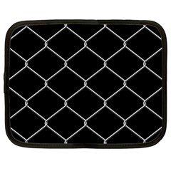 Iron Wire White Black Netbook Case (xl)  by Mariart