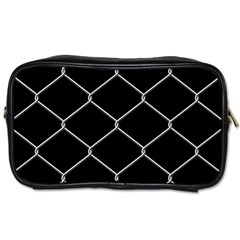 Iron Wire White Black Toiletries Bags by Mariart