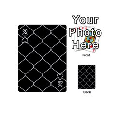 Iron Wire White Black Playing Cards 54 (mini)  by Mariart