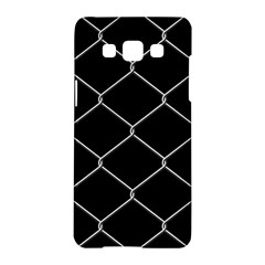 Iron Wire White Black Samsung Galaxy A5 Hardshell Case  by Mariart