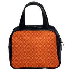 Heart Orange Love Classic Handbags (2 Sides) by Mariart