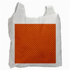 Heart Orange Love Recycle Bag (one Side) by Mariart