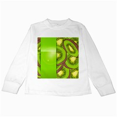 Fruit Slice Kiwi Green Kids Long Sleeve T Shirts by Mariart