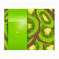 Fruit Slice Kiwi Green Small Glasses Cloth (2 Side) by Mariart