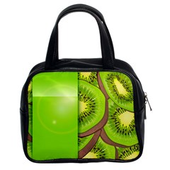 Fruit Slice Kiwi Green Classic Handbags (2 Sides) by Mariart