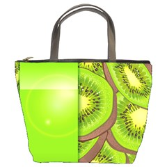 Fruit Slice Kiwi Green Bucket Bags
