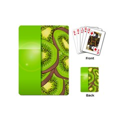 Fruit Slice Kiwi Green Playing Cards (mini)  by Mariart