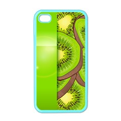 Fruit Slice Kiwi Green Apple Iphone 4 Case (color) by Mariart