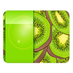 Fruit Slice Kiwi Green Double Sided Flano Blanket (large)  by Mariart