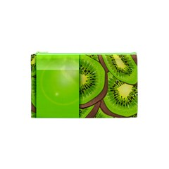 Fruit Slice Kiwi Green Cosmetic Bag (xs) by Mariart