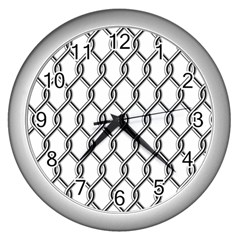 Iron Wire Black White Wall Clocks (silver)  by Mariart