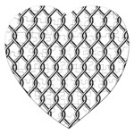 Iron Wire Black White Jigsaw Puzzle (Heart) Front
