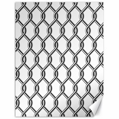 Iron Wire Black White Canvas 18  X 24   by Mariart