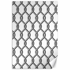 Iron Wire Black White Canvas 24  X 36  by Mariart