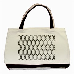 Iron Wire Black White Basic Tote Bag (two Sides)