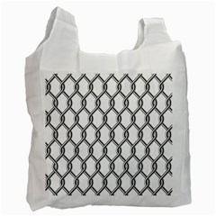Iron Wire Black White Recycle Bag (one Side) by Mariart
