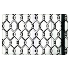 Iron Wire Black White Apple Ipad 2 Flip Case by Mariart