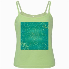 Leaf Blue Snow Circle Polka Star Green Spaghetti Tank