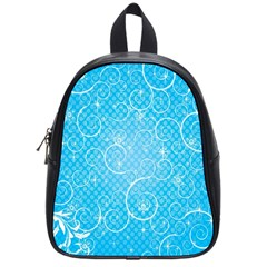 Leaf Blue Snow Circle Polka Star School Bags (small)  by Mariart