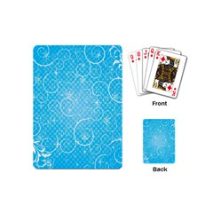Leaf Blue Snow Circle Polka Star Playing Cards (mini)  by Mariart