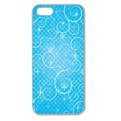 Leaf Blue Snow Circle Polka Star Apple Seamless Iphone 5 Case (clear) by Mariart