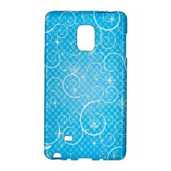 Leaf Blue Snow Circle Polka Star Galaxy Note Edge by Mariart