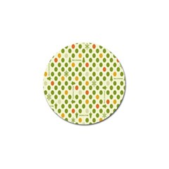 Merry Christmas Polka Dot Circle Snow Tree Green Orange Red Gray Golf Ball Marker (10 Pack) by Mariart