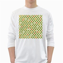 Merry Christmas Polka Dot Circle Snow Tree Green Orange Red Gray White Long Sleeve T-shirts