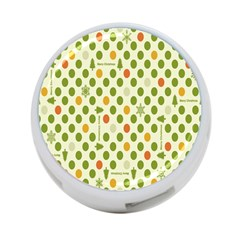 Merry Christmas Polka Dot Circle Snow Tree Green Orange Red Gray 4 Port Usb Hub (two Sides)  by Mariart