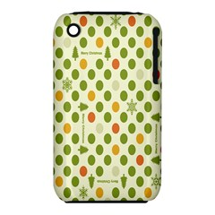 Merry Christmas Polka Dot Circle Snow Tree Green Orange Red Gray Iphone 3s/3gs by Mariart