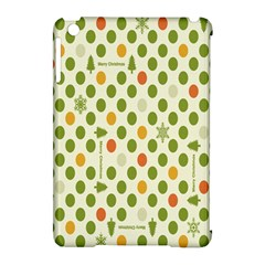 Merry Christmas Polka Dot Circle Snow Tree Green Orange Red Gray Apple Ipad Mini Hardshell Case (compatible With Smart Cover) by Mariart